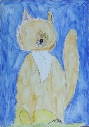 Вилисова Злата, 7 лет – Удивительный кот, Цветы для мамочки. с.Берёзовка