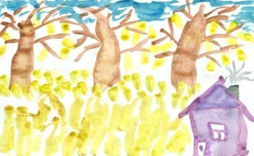Мехоношин Всеволод, 8 лет – Октябрь уж наступил – уж роща отряхает последние листы. Кудымкар